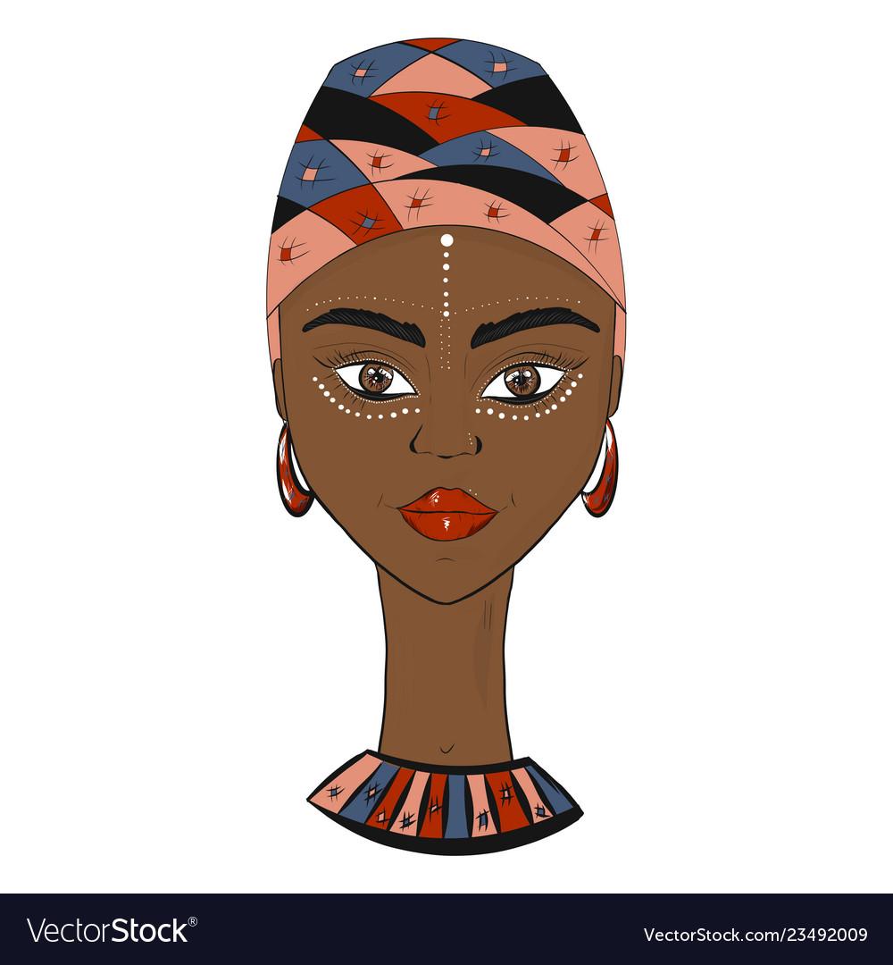 Beautiful african woman in turban