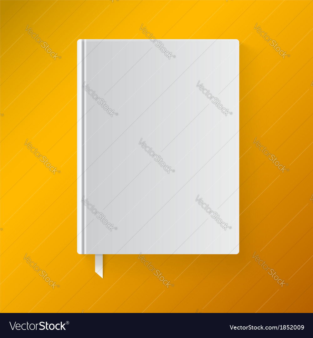 Blank book cover with a bookmark Object for design