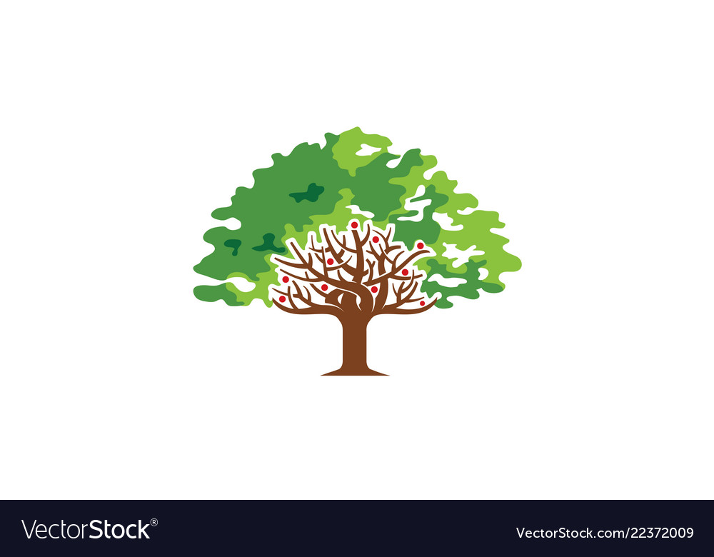 Creative green tree nature logo