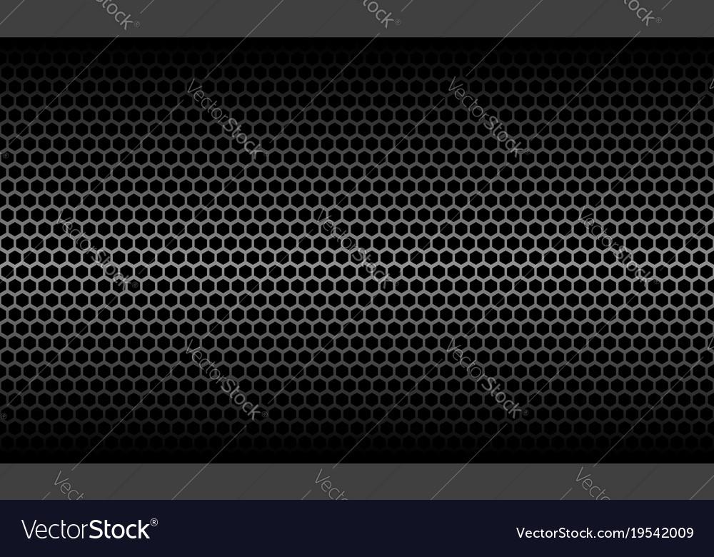 Dark Honeycomb Metallic Carbon Texture Vector Image