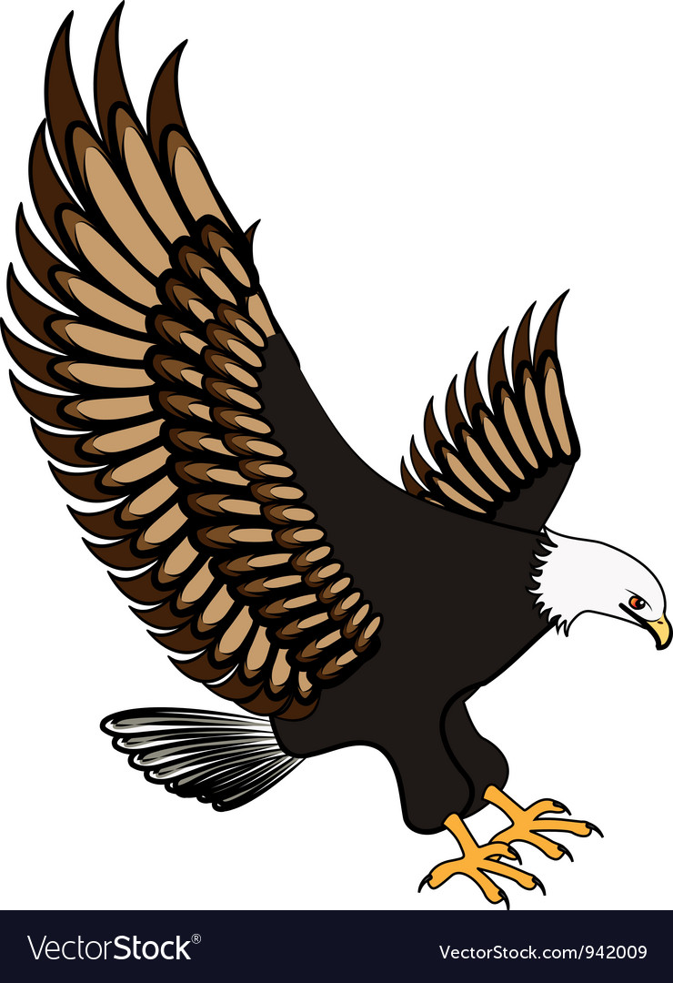 eagle royalty free vector image vectorstock rh vectorstock com eagle vector files eagle vector files