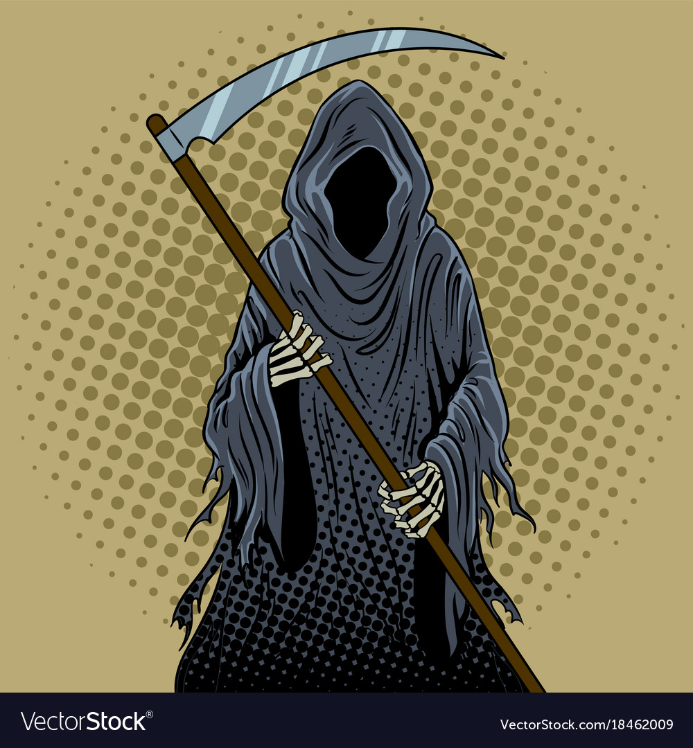 Grim Reaper Pop Art Royalty Free Vector Image Vectorstock