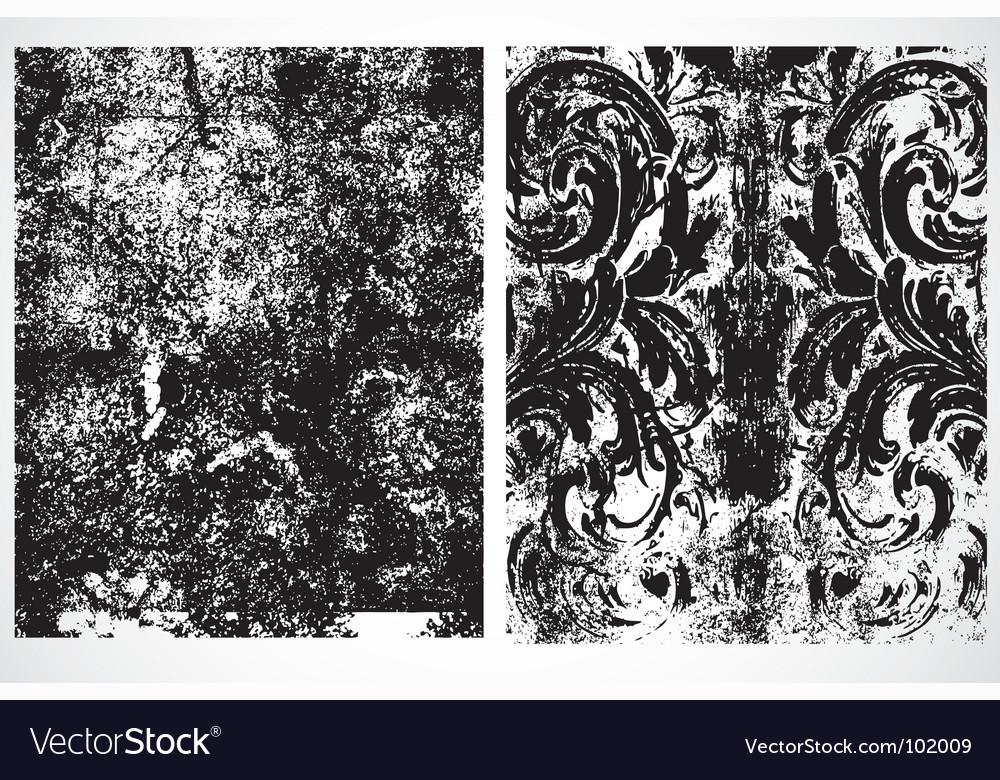 Grunge overlays vector image