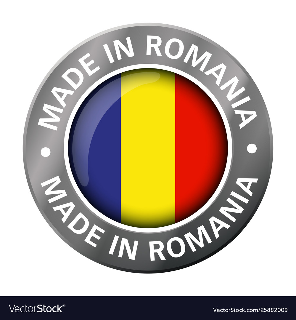Made in romania flag metal icon