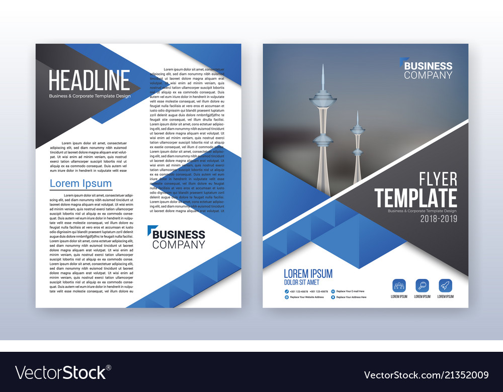 Modern business annual report template Royalty Free Vector