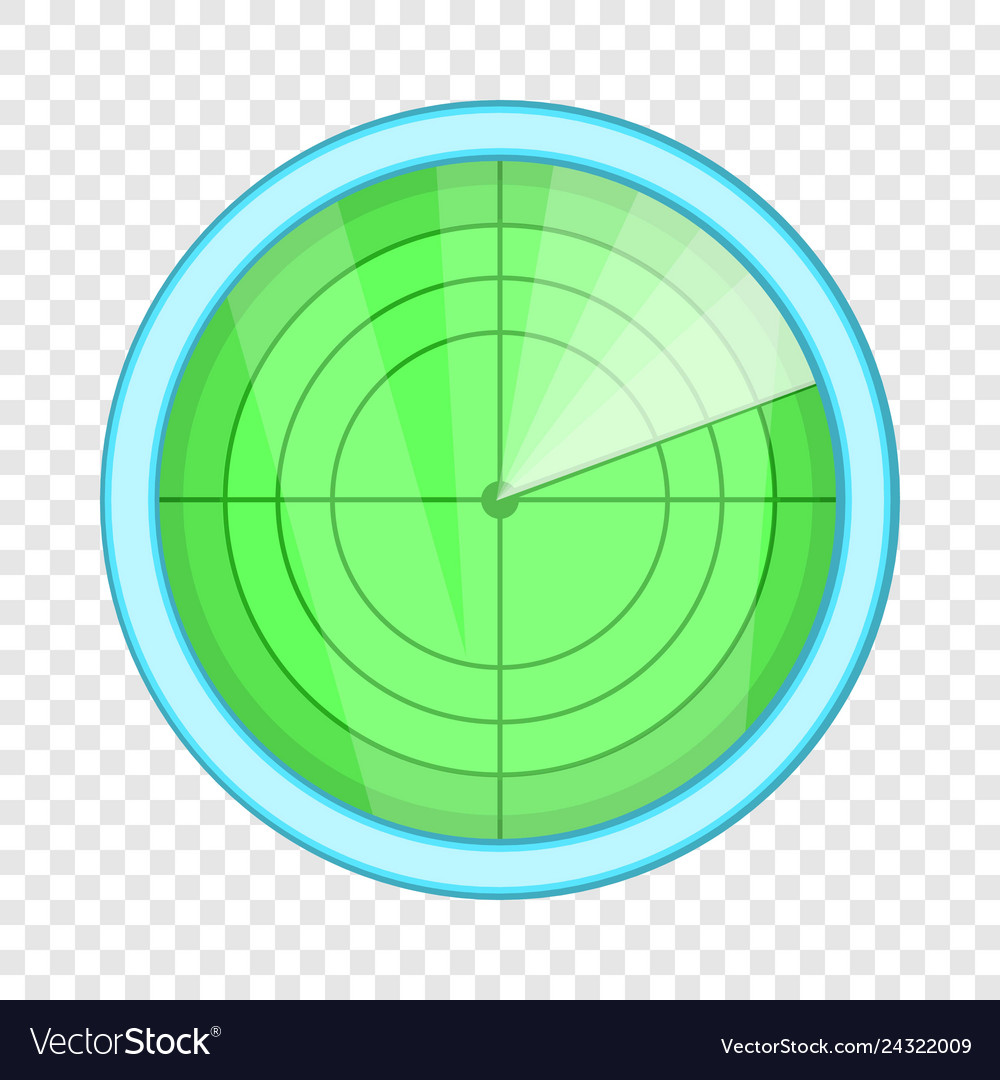Radar icon cartoon style
