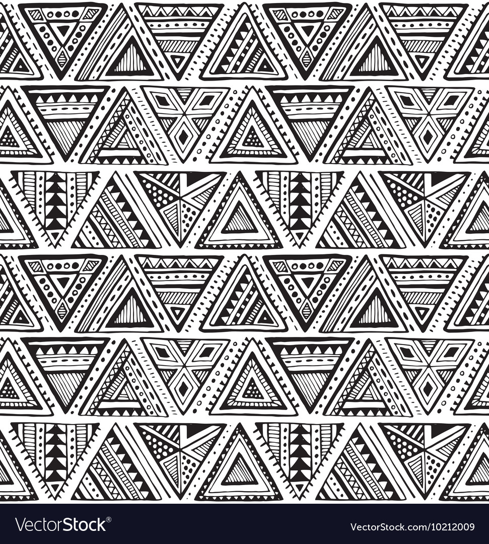 Seamless pattern with black and white hand
