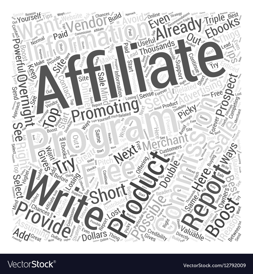 Top Ways To Boost Your Affiliate Commissions vector image