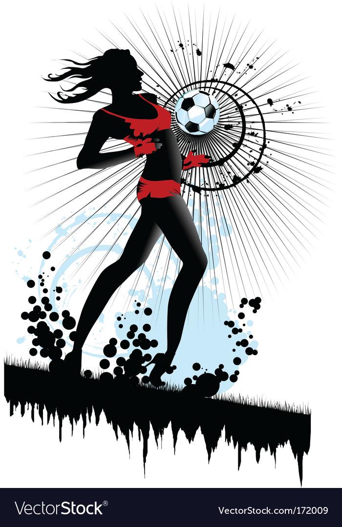 Woman soccer vector image