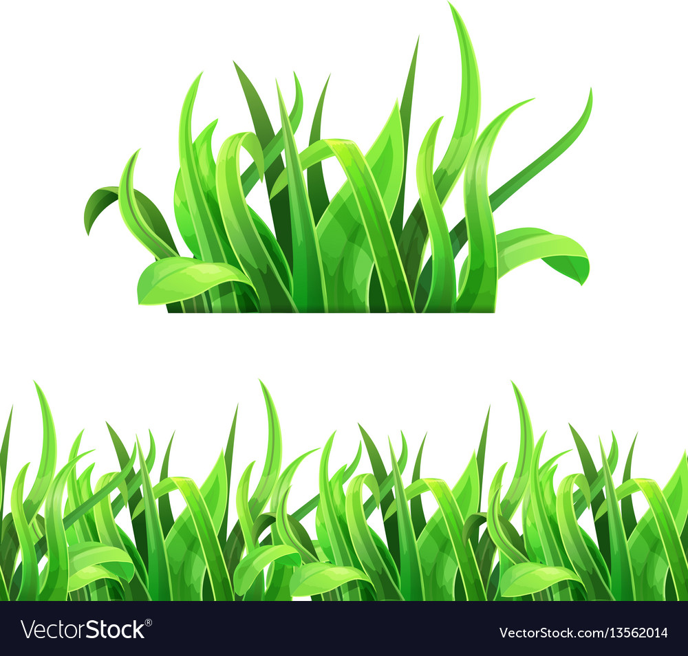 Green grass horizontal seamless