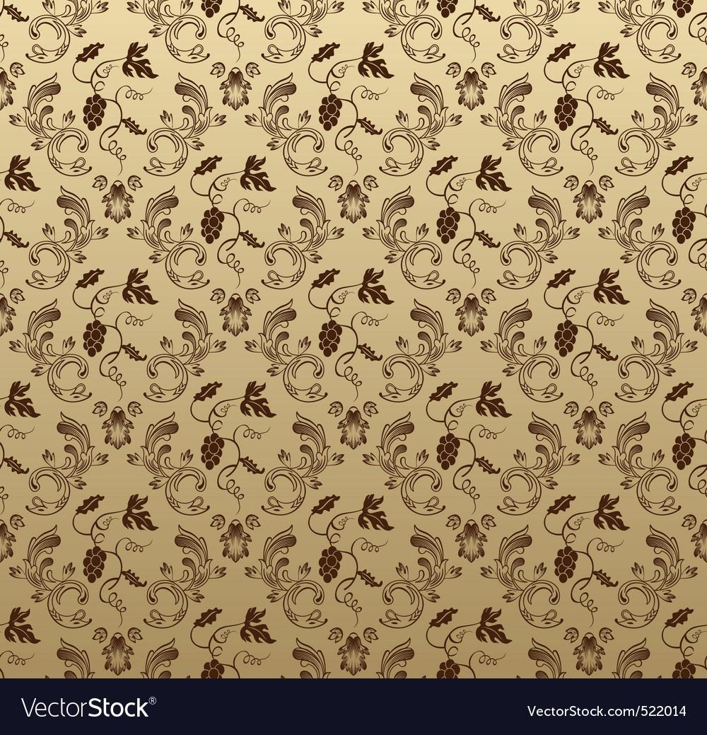 Seamless wallpaper background grapes vegetative vi vector image