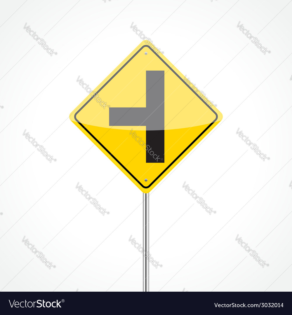 Side Road Sign