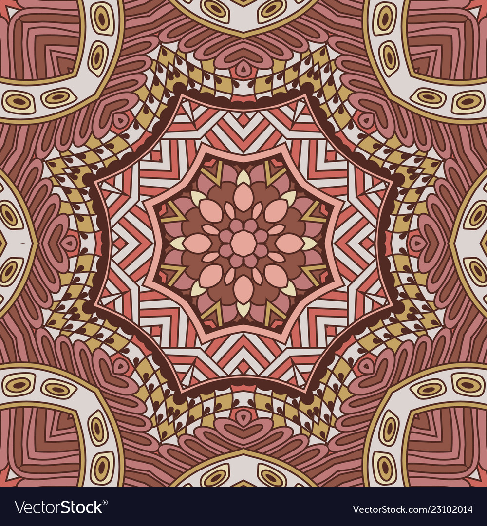 Vintage Boho Tribal Ethnic Festive Royalty Free Vector Image