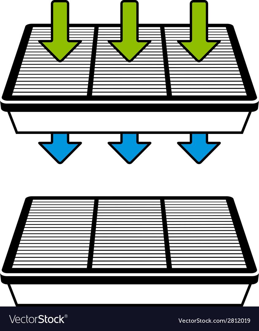 Air Filter Flow Symbols Royalty Free Vector Image