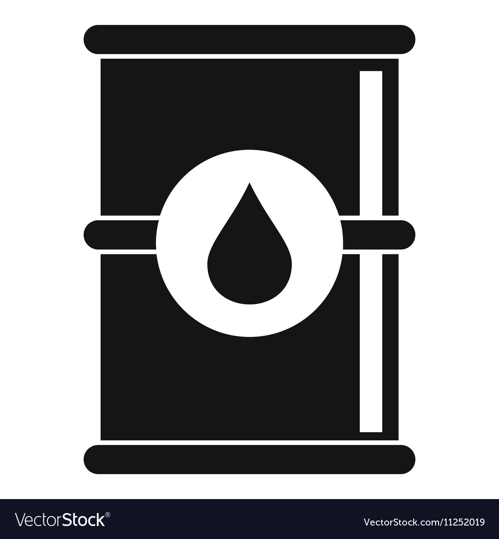 Barrel of oil icon simple style Royalty Free Vector ImageOil Barrel Icon