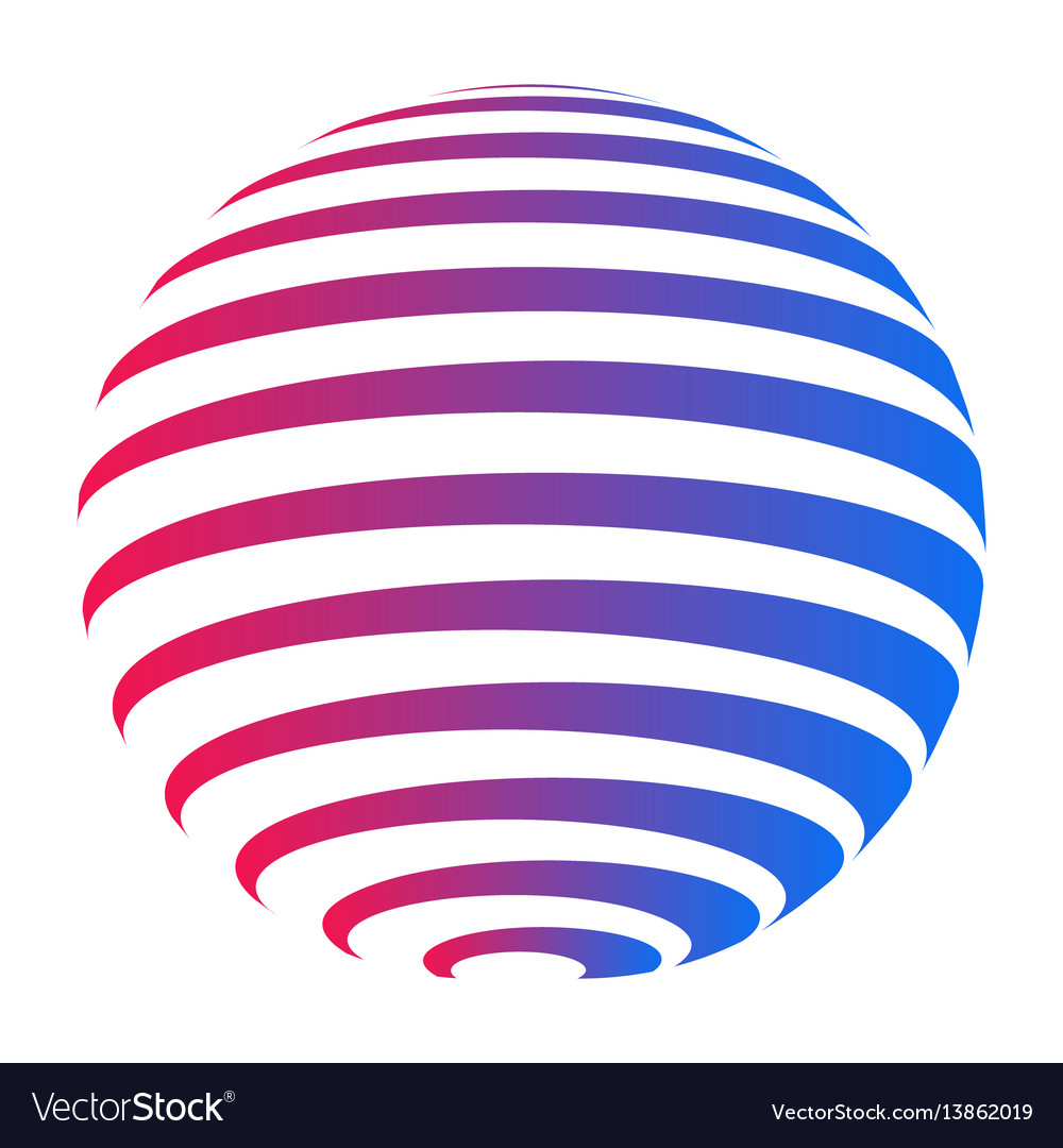 company logo circle sphere with horizontal stripes rh vectorstock com vector stripes free vector stripes pattern