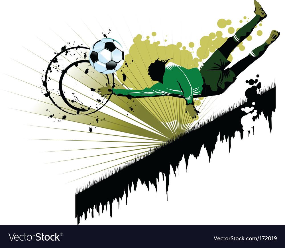 Goalkeeping vector image