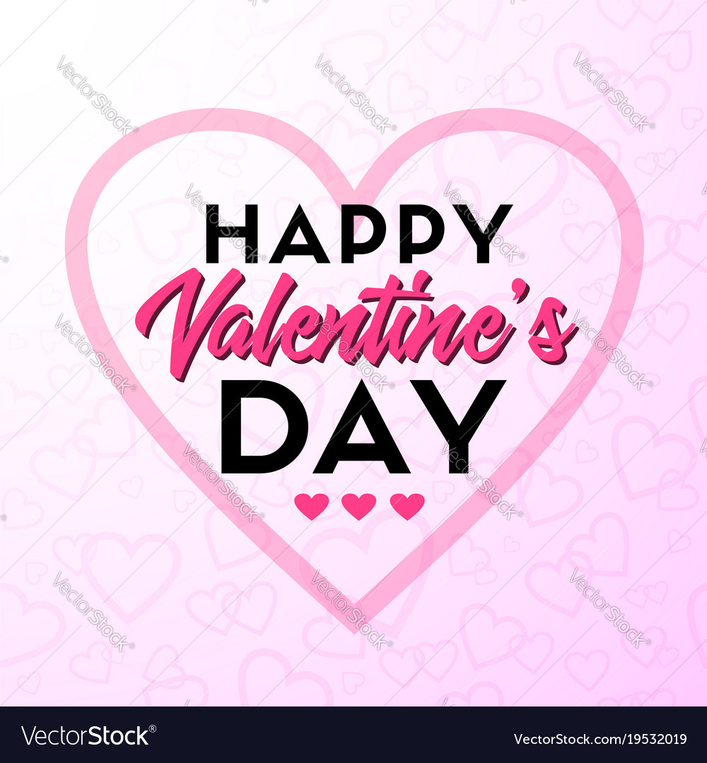Happy Valentines Day Greeting Card Royalty Free Vector Image