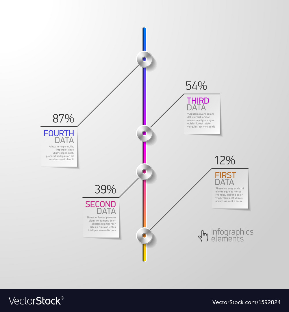 Abstract business infographics design element