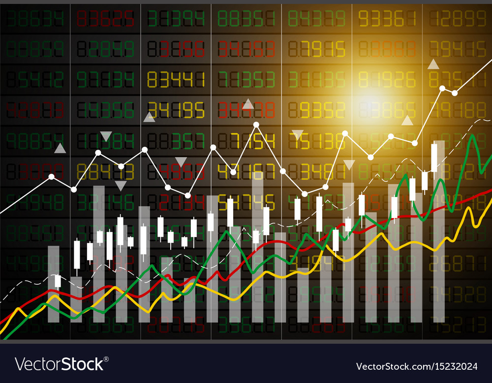 Business concept of stock market graph background vector image