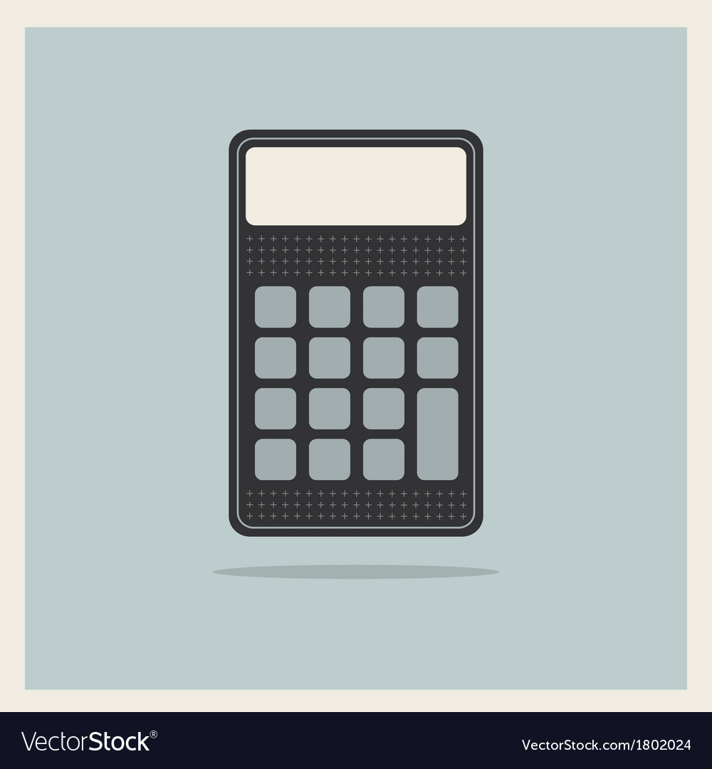 Classic Finance Accounting Calculator vector image