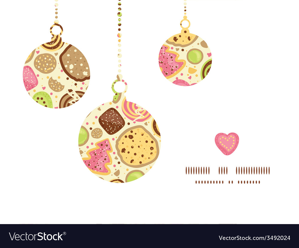 Colorful Cookies Christmas Ornaments Silhouettes