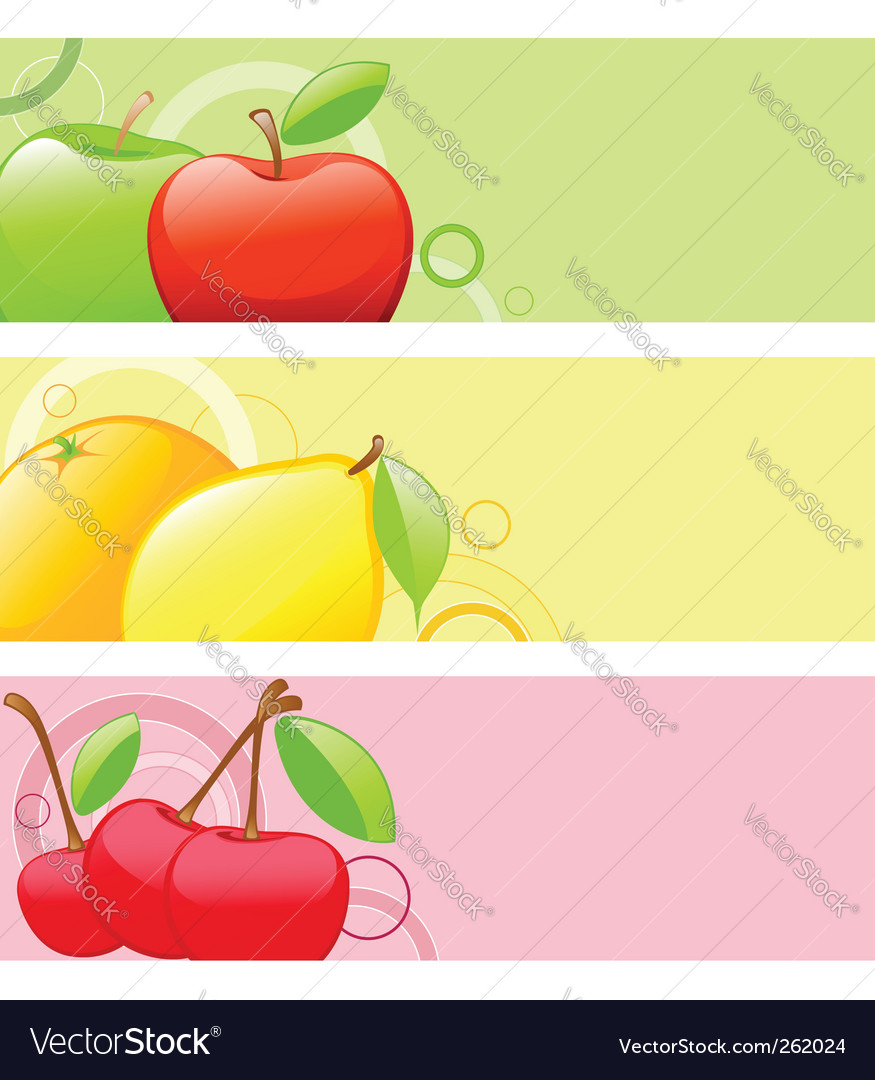 Fruit backgrounds vector image