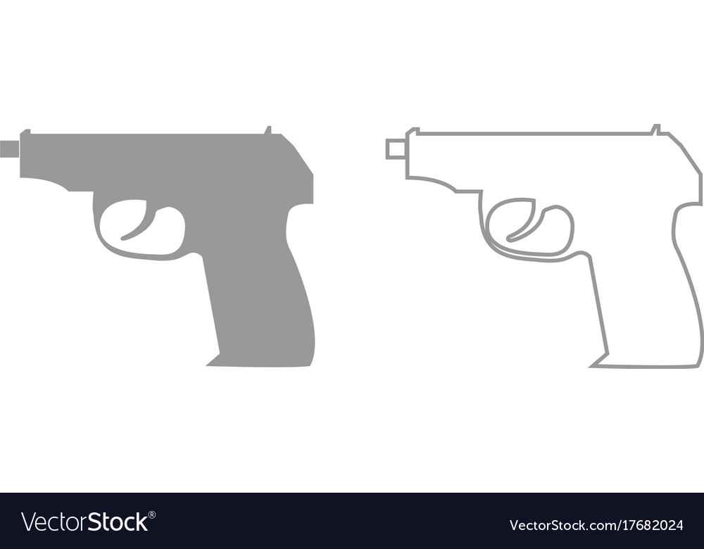 Hand gun it is black icon vector image