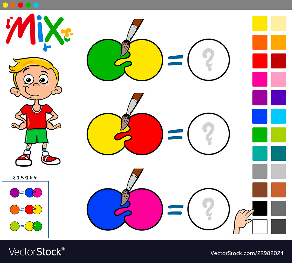 Mix colors educational game for kids