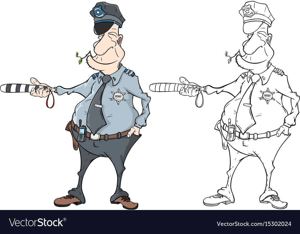 - Police Officer Coloring Book Royalty Free Vector Image