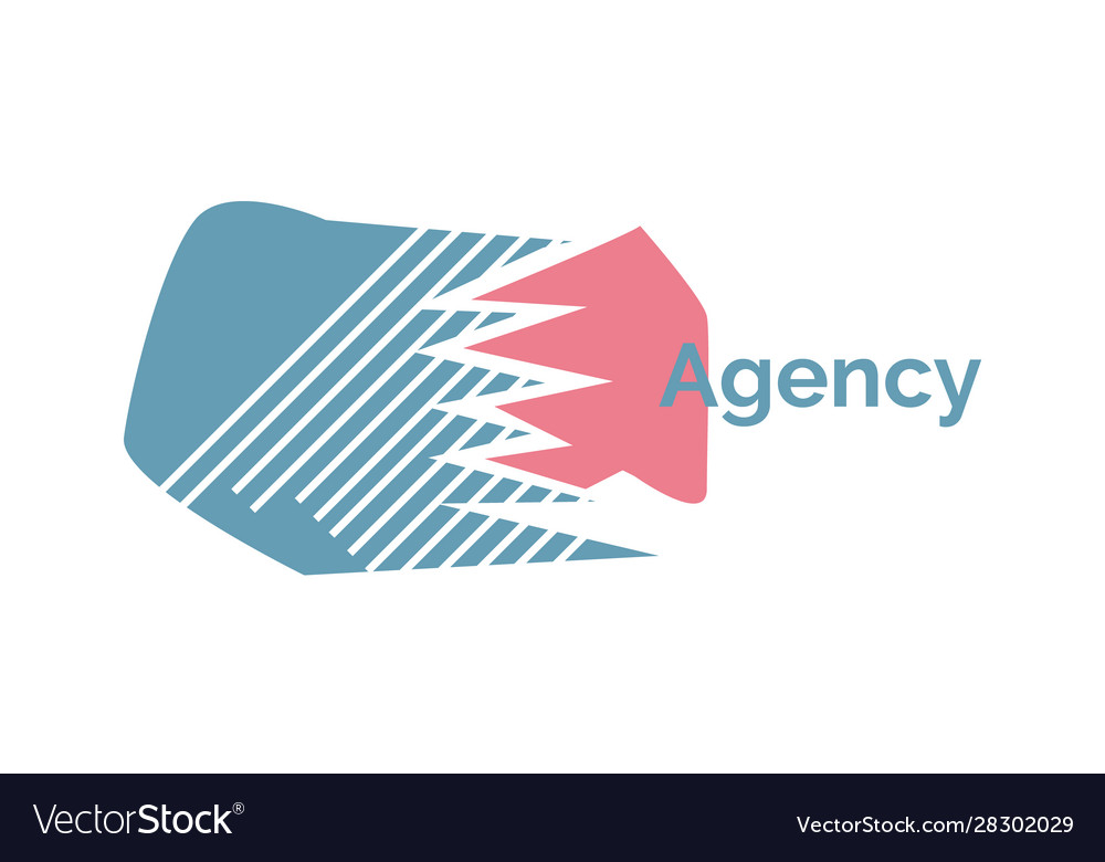 Agency logo design isolated emblem