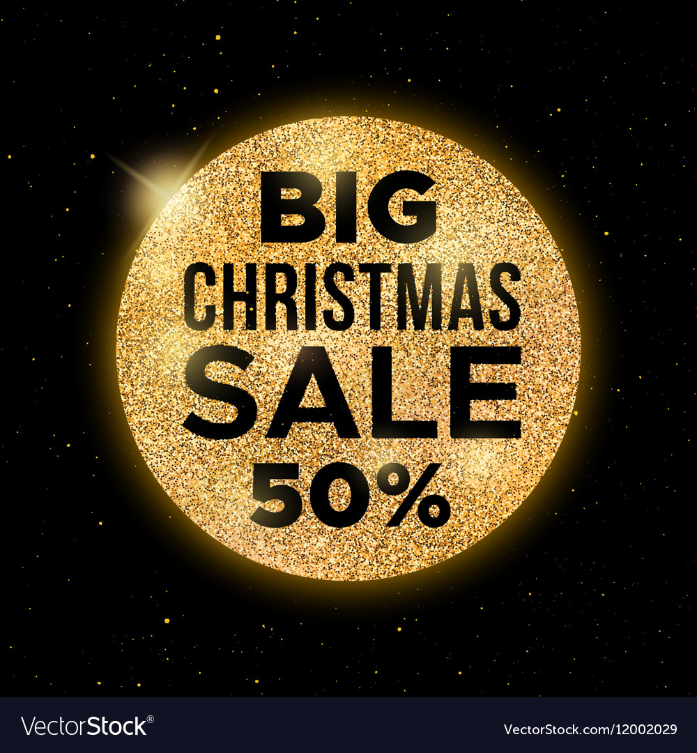 Big Christmas Sale promotion banner vector image