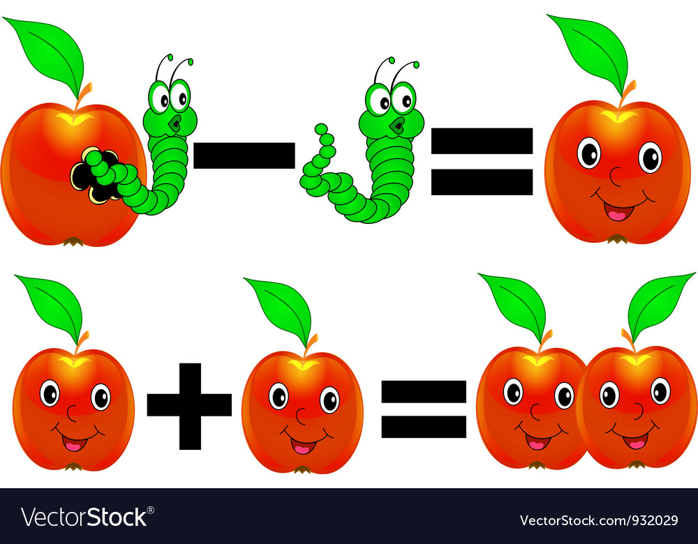Cartoon Math vector image