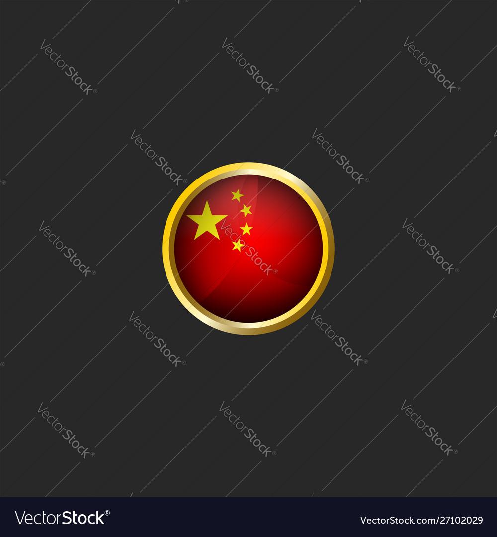 China flag logo round 3d prc icon glossy glass