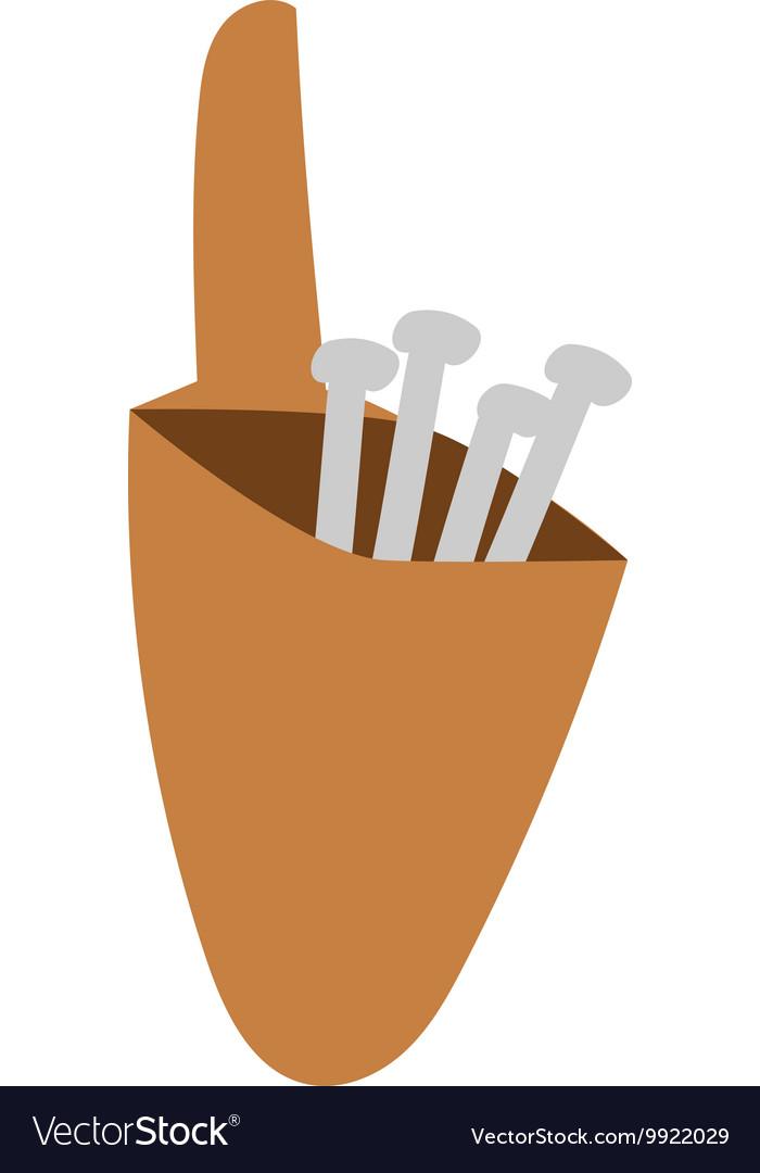 Construction nails vector image