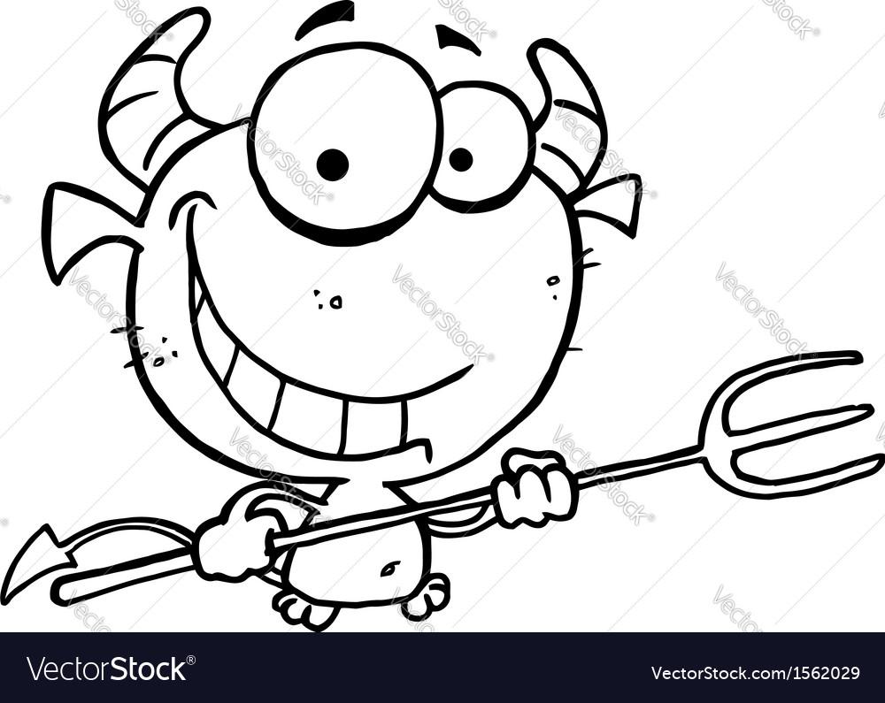 Devil Cartoon Vector Art