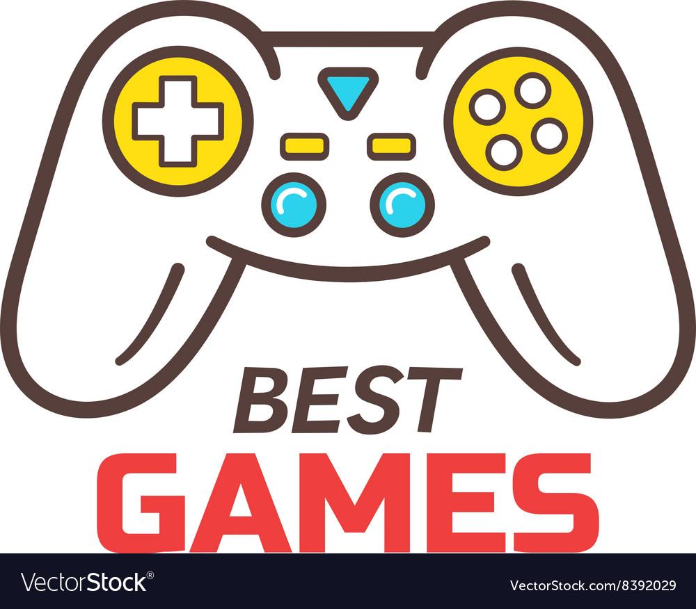 Games store logo template game controller icon
