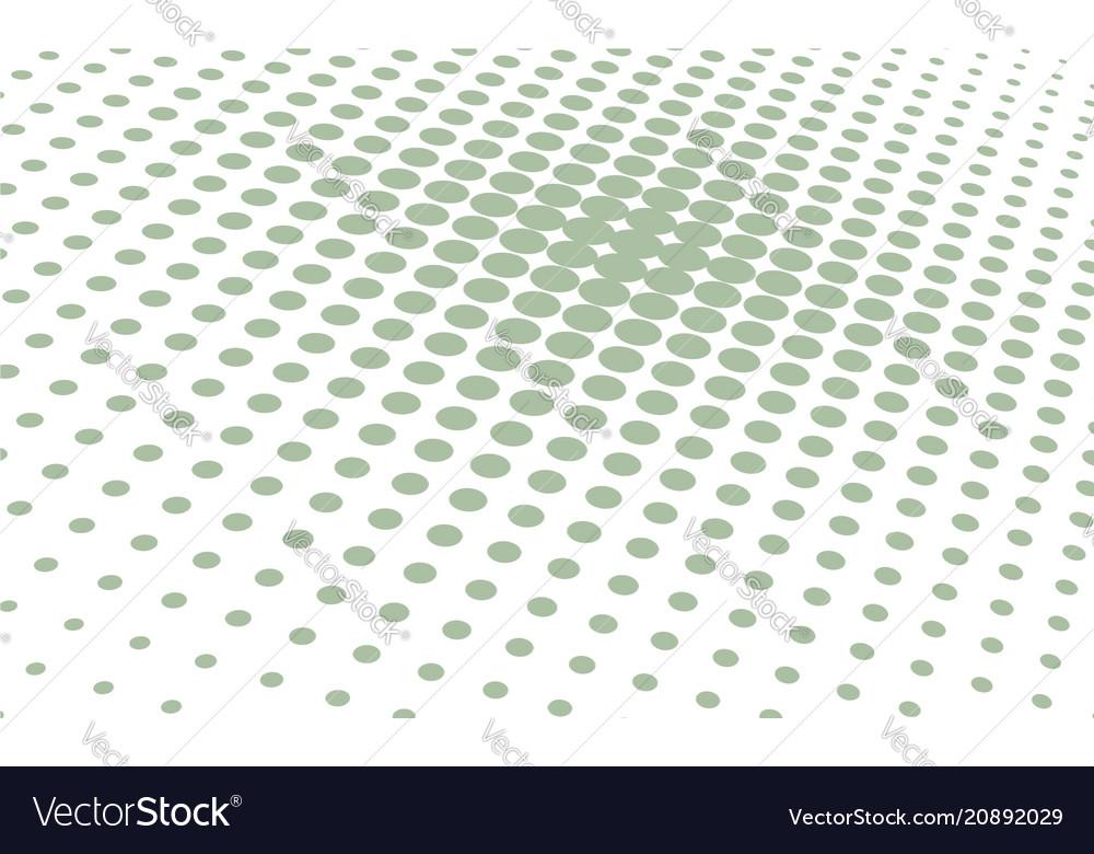 Halftone background green polka dots backdrop