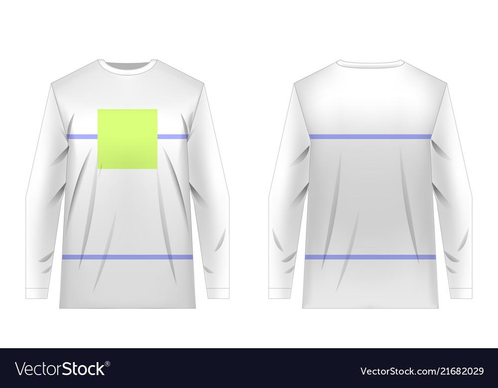 Jersey design templates vector image on VectorStock