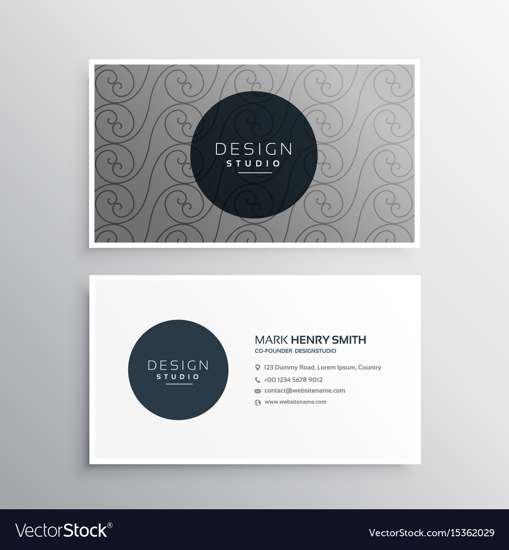 Professional business card design in gray color vector image reheart Choice Image