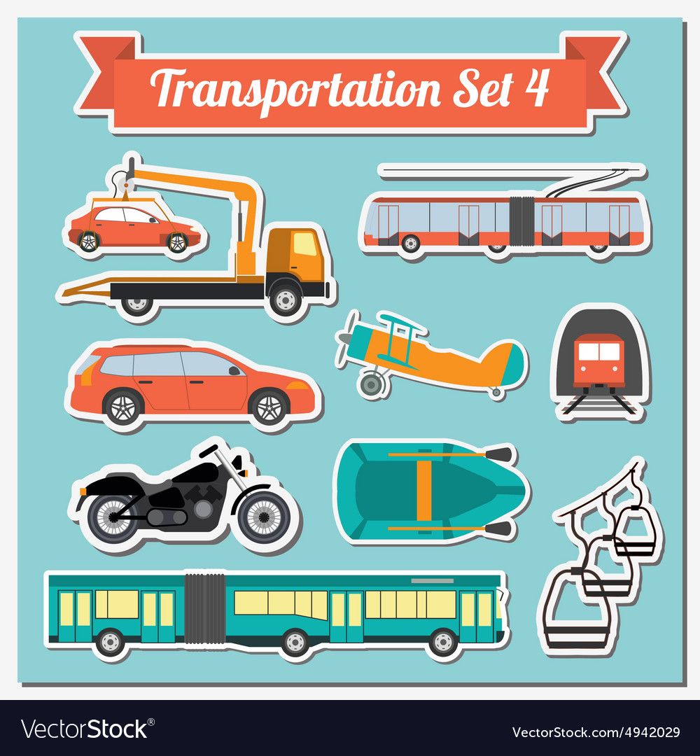 Set of all types of transport icon for creating