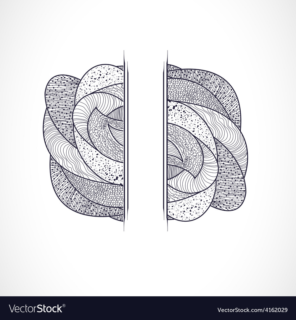 With abstract shape