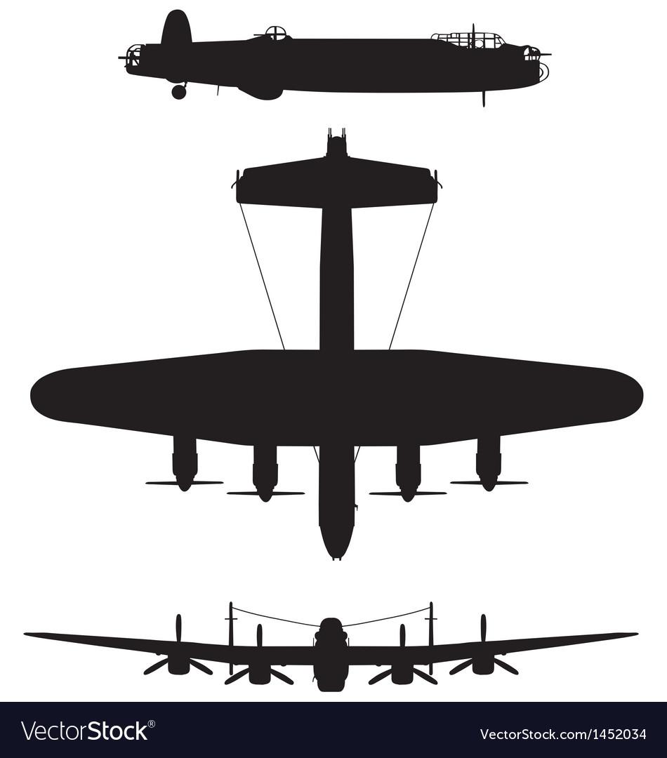 Avro Lancaster bomber vector image