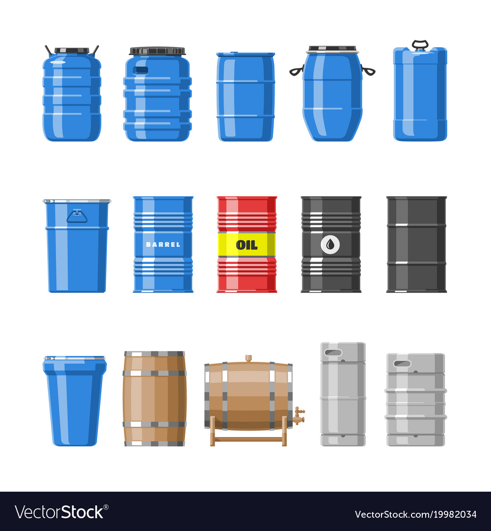 Barrel oil barrels with fuel and wine or