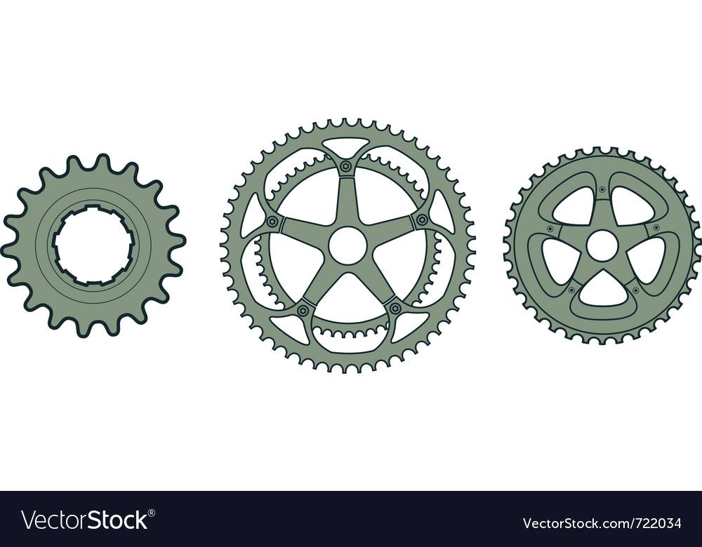 Bike gears vector image