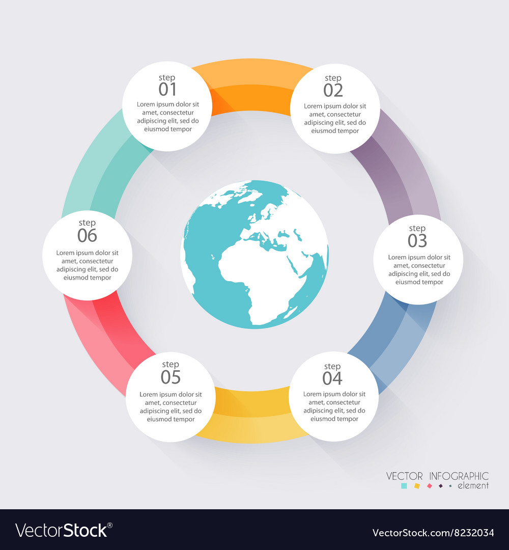 Colorful info graphics for your business