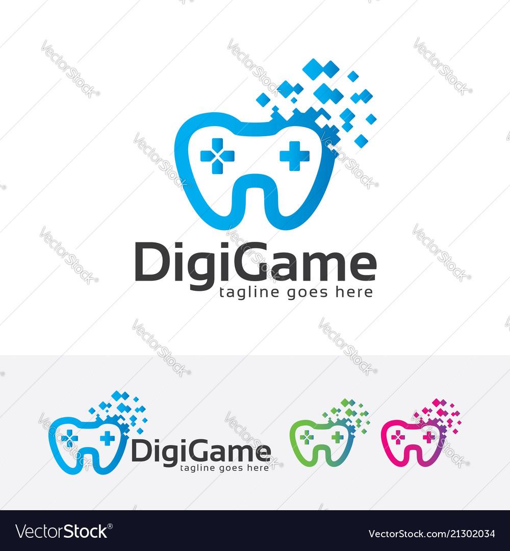 Digital game logo design