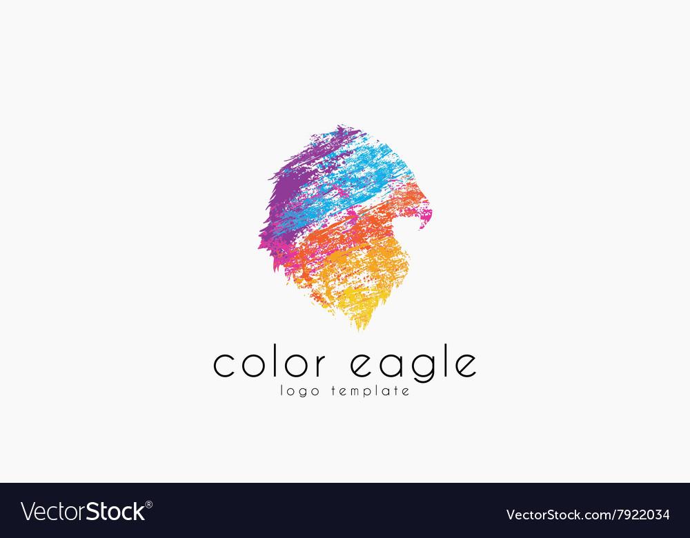 Eagle logo design bird logo color eagle america vector image