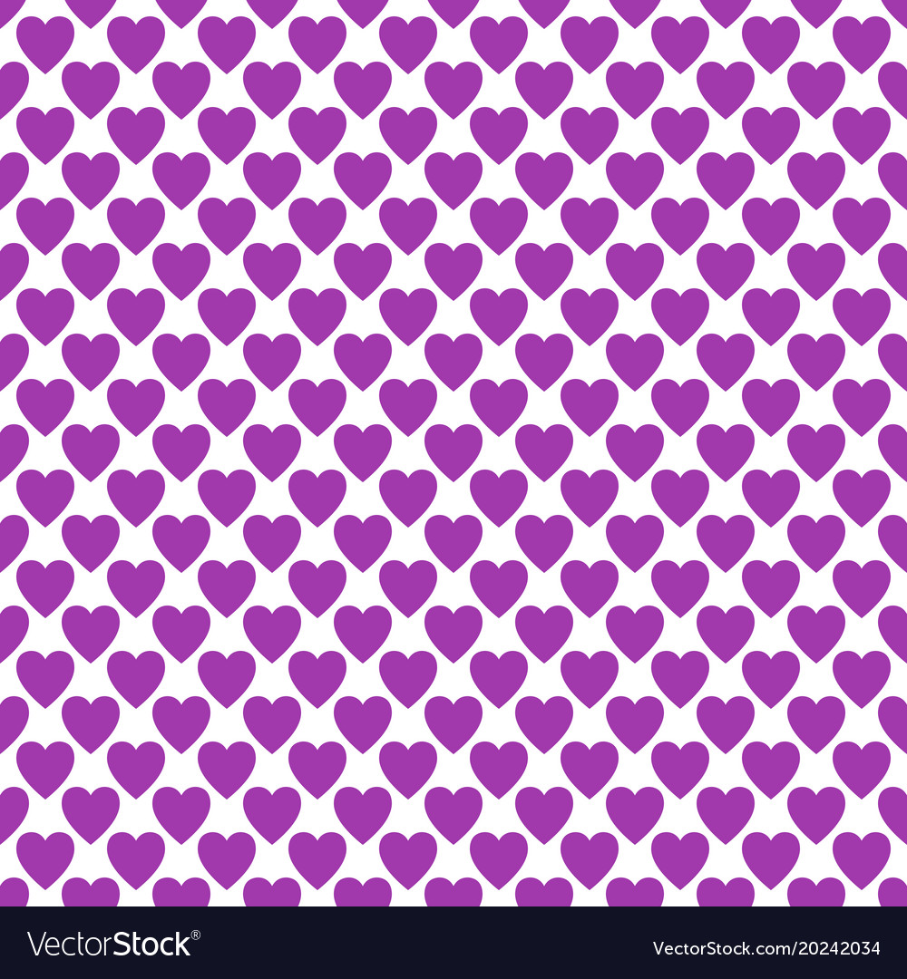 Repeating heart pattern design background - love vector image