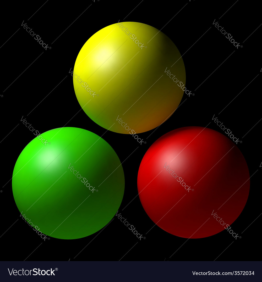 Set of colorful balls